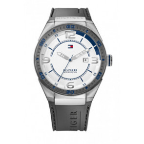 Correa de reloj Tommy Hilfiger TH12512909 / TH675010692 Caucho Gris 21mm