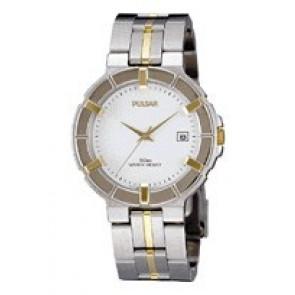 Pulsar correa de reloj V732-0330  Acero inoxidable Bicolor 8mm