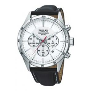 Correa de reloj Pulsar VD53-X001 PT3007X1 (PP069X) Cuero Negro