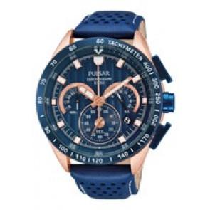 Correa de reloj Pulsar VK63-X001-PU2082X1 Cuero Azul