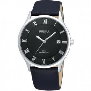 Correa de reloj Pulsar VX42-X355 Cuero Negro 20mm