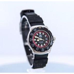 Correa de reloj Tag Heuer WA1411 Caucho Negro 15mm