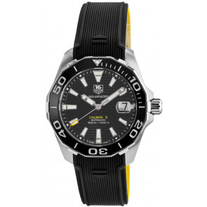 Correa de reloj Tag Heuer WAY211A / FT6068 Caucho Negro 21mm