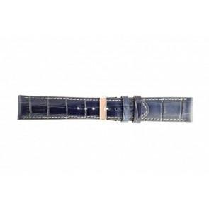 Correa de reloj de cuero genuino croco azul oscuro WP-61324.36mm
