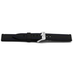 Correa de reloj Universal XH17 Caucho Negro 22mm