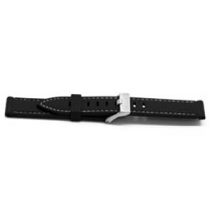 Correa de reloj Universal XH18 Caucho Negro 22mm