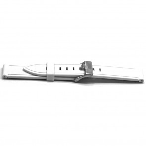 Correa de reloj Universal XH21 Caucho Blanco 22mm