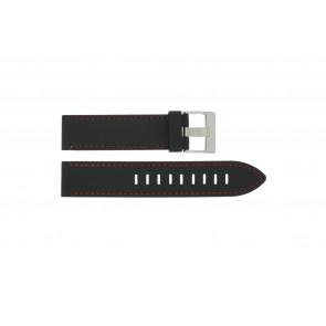 Correa de reloj Universal XH19 Silicona Negro 22mm