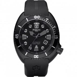 Correa de reloj Zodiac ZO8010 Caucho Negro 24mm
