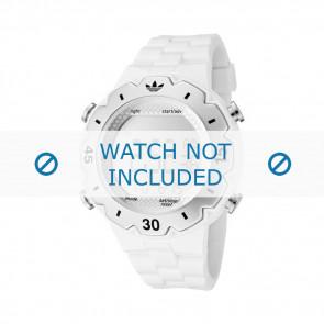 Adidas correa de reloj ADH1768 Silicona Blanco 16mm