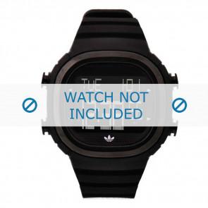 Adidas correa de reloj ADH2045 Silicona Negro 24mm