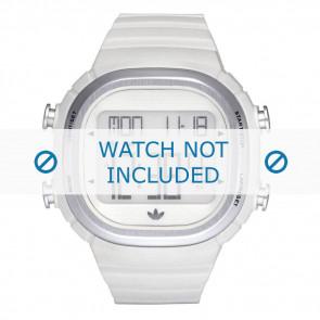 Adidas correa de reloj ADH2120 Plástico Blanco 24mm