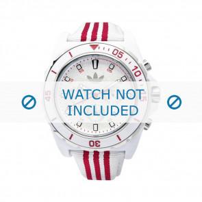 Adidas correa de reloj ADH2666 Silicona Blanco 24mm