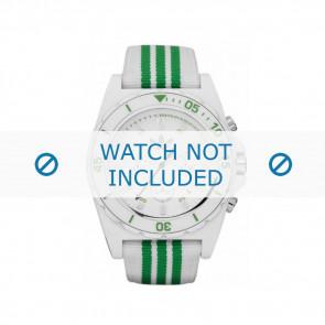 Adidas correa de reloj ADH2667 Textil Verde 24mm