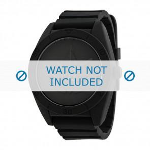 Adidas correa de reloj ADH2710 Silicona Negro 24mm