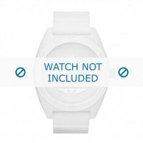 Adidas correa de reloj ADH2711 Silicona Blanco 24mm