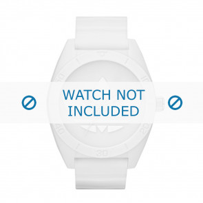 Adidas correa de reloj ADH2711 Caucho Blanco 24mm