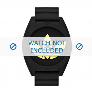 Correa de reloj Adidas ADH2712 Silicona Negro 24mm