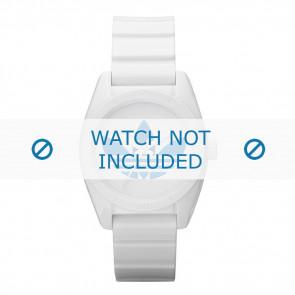Adidas correa de reloj ADH2807 Silicona Blanco 16mm