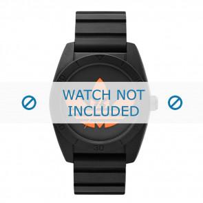 Adidas correa de reloj ADH2880 Silicona Negro 20mm