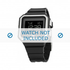 Adidas correa de reloj ADH6131 Silicona Negro 16mm