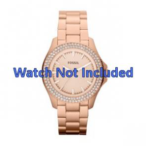 Correa de reloj Fossil AM4454 Acero Rosa 18mm