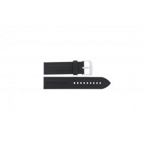 Correa de reloj Armani AR0527 Vanille / AR5826 Silicona Negro 23mm