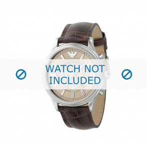 Armani correa de reloj AR0562 Cuero Marrón 21mm + costura marrón