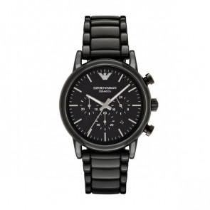 Correa de reloj Armani AR1507 Cerámica Negro 23mm