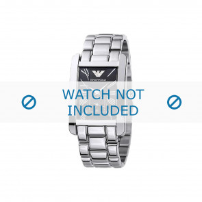 Armani correa de reloj AR0156 Metal Plateado