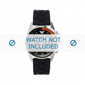 Armani correa de reloj AR5878 Silicona Negro 24mm