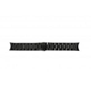 Correa de reloj Armani AR1400 / AR1401 Cerámica Negro 22mm