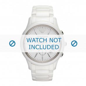 Armani correa de reloj AR1453 Cerámica Blanco 22mm