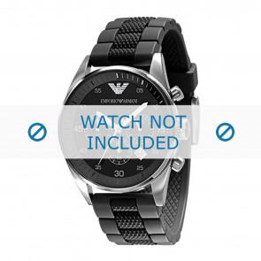 Armani correa de reloj AR5866 Silicona Negro 23mm