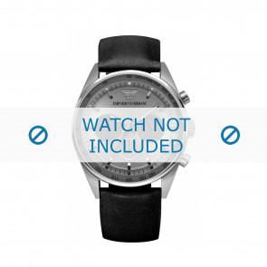 Armani correa de reloj AR5994 Cuero Negro 23mm