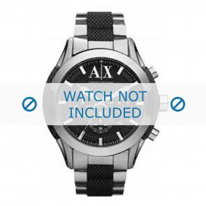 Armani correa de reloj AX1214 Metal Plateado