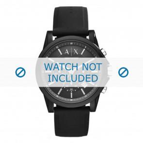 Armani correa de reloj AX1326 Silicona Negro