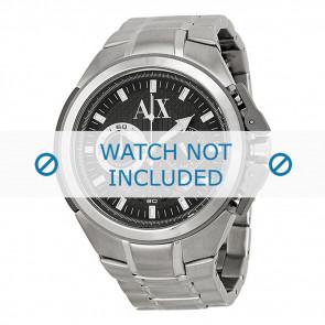 Armani correa de reloj AX-1039 Acero Palteado 27mm