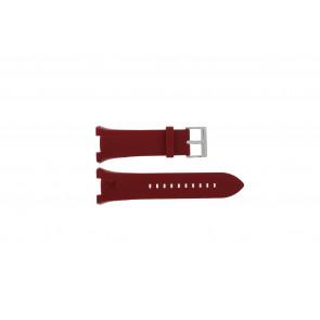 Armani correa de reloj AX-1040 Silicona Rojo 14mm