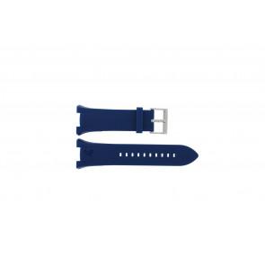 Armani correa de reloj AX-1041 Goma Azul claro 21mm