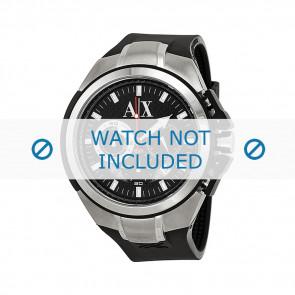 Armani correa de reloj AX1042 Silicona Negro 32mm