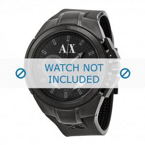 Armani correa de reloj AX-1050 Silicona Negro 14mm