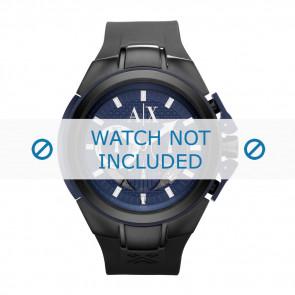 Armani correa de reloj AX-1114 Silicona Negro 14mm