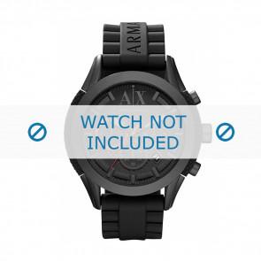 Armani correa de reloj AX-1212 Silicona Negro 22mm