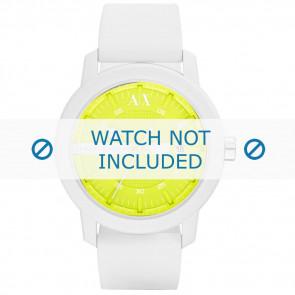 Armani correa de reloj AX-1241 Silicona Blanco 22mm