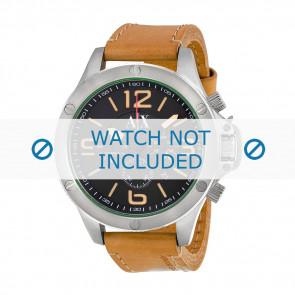 Armani correa de reloj AX-1516 Piel Marrón 22mm