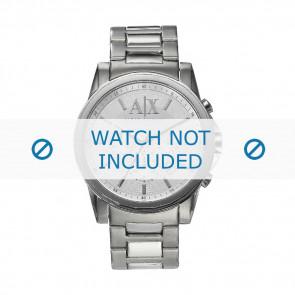 Armani correa de reloj AX-2058 Acero Palteado 22mm