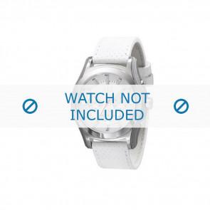 Armani correa de reloj AX-2071 Piel Blanco 22mm