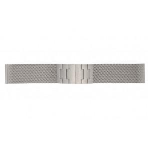 Mondaine correa de reloj BM20031 / 12622.ST.2 Metal Plateado 22mm