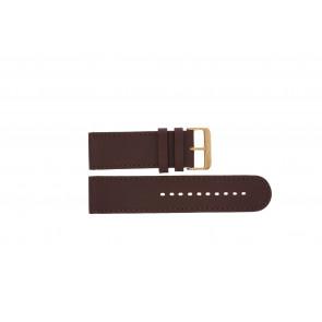 Prisma correa de reloj DBR27 Cuero Marrón 27mm + costura marrón